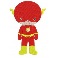 Cute Boy Flash Superhero's Little Brother - (hands out) Machine Embroidery Design
