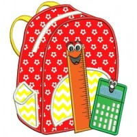 School Back pack Applique Machine Embroidery Digitized Design Filled Pattern -Instant Download- 4x4,5x7,6x10