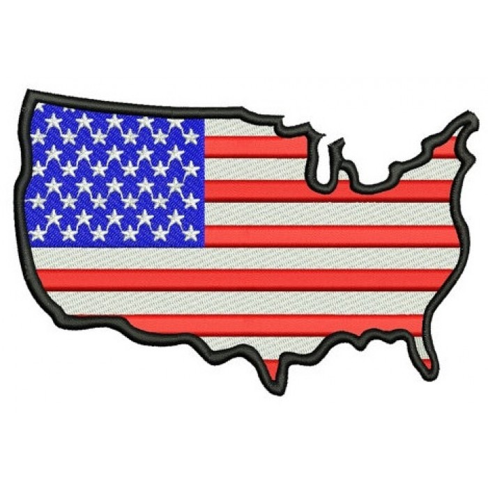 American Flag with Heart USA Patriotic heart Filled Machine Embroidery Digitized Design Pattern - Instant Download - 4x4 , 5x7, 6x10