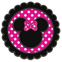 Circle Minnie Mouse Ears Applique Machine Embroidery Digitized Pattern- Instant Download - 4x4 ,5x7,6x10 -hoops