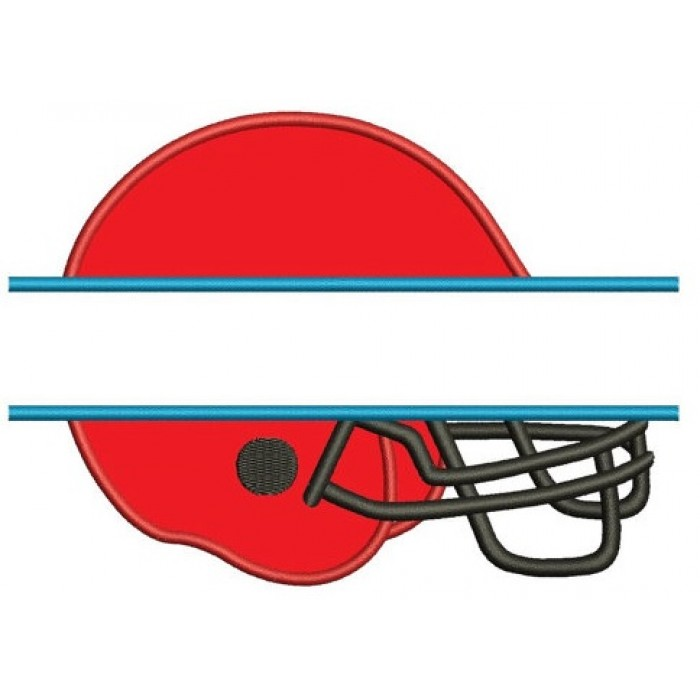 Football Helmet Split in the middle Applique Sport Machine Embroidery Digitized Design Pattern- Instant Download - 4x4 , 5x7, 6x10 hoops