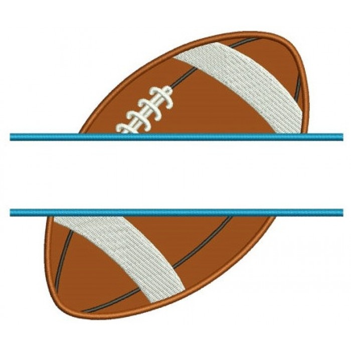 Football Split Sideways Applique Sport Machine Embroidery Digitized Design Pattern- Instant Download - 4x4 , 5x7, and 6x10 hoopss