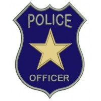 Police Badge Applique Machine Embroidery Digitized Design Pattern - Instant Download- 4x4 , 5x7, 6x10