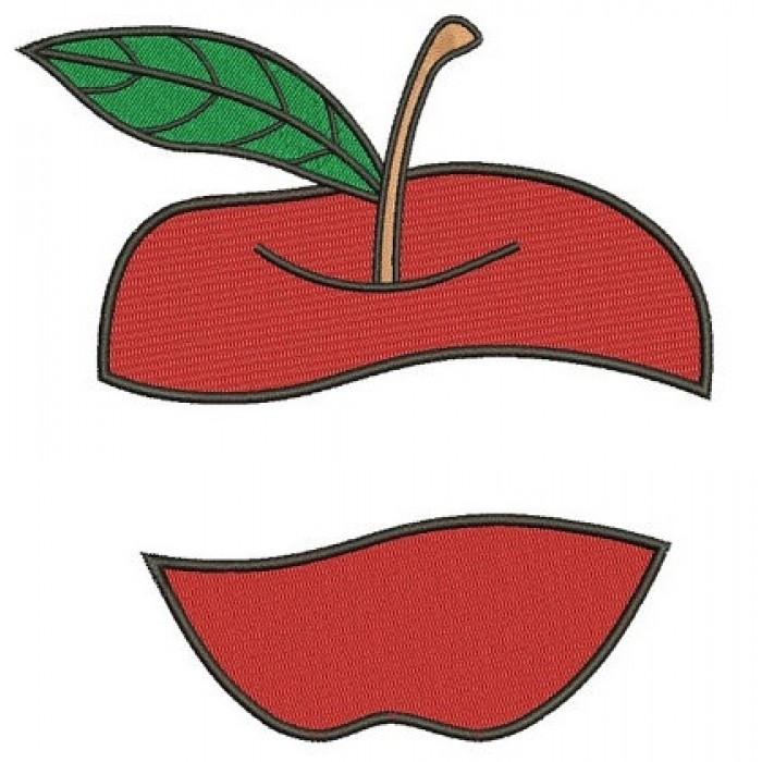 Apple machine embroidery digitized design filled pattern - Instant Download -4x4 , 5x7, and 6x10 hoops