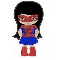 Looks like Spider Girl Applique Super Hero (hands in) - Machine Embroidery Digitized Design Pattern - Instant Download - 4x4 , 5x7, 6x10