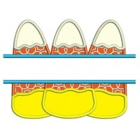 Candy Corn Halloween Split Applique Machine Embroidery Digitized Design Pattern - Instant Download - 4x4 , 5x7, and 6x10