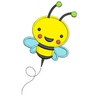 Cute Little Bumble Bee Applique Machine Embroidery Design Pattern - Instant Download - comes in three sizes to fit 4x4 , 5x7, and 6x10 hoops