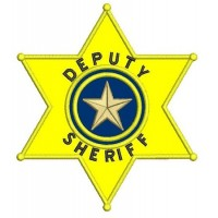 Deputy Sheriff Police Badge Applique Machine Embroidery Digitized Design Pattern - Instant Download- 4x4 , 5x7, 6x10