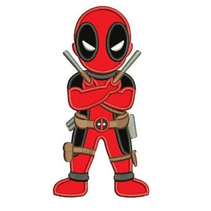 Looks Like Deadpool Applique Machine Embroidery Digitized ...