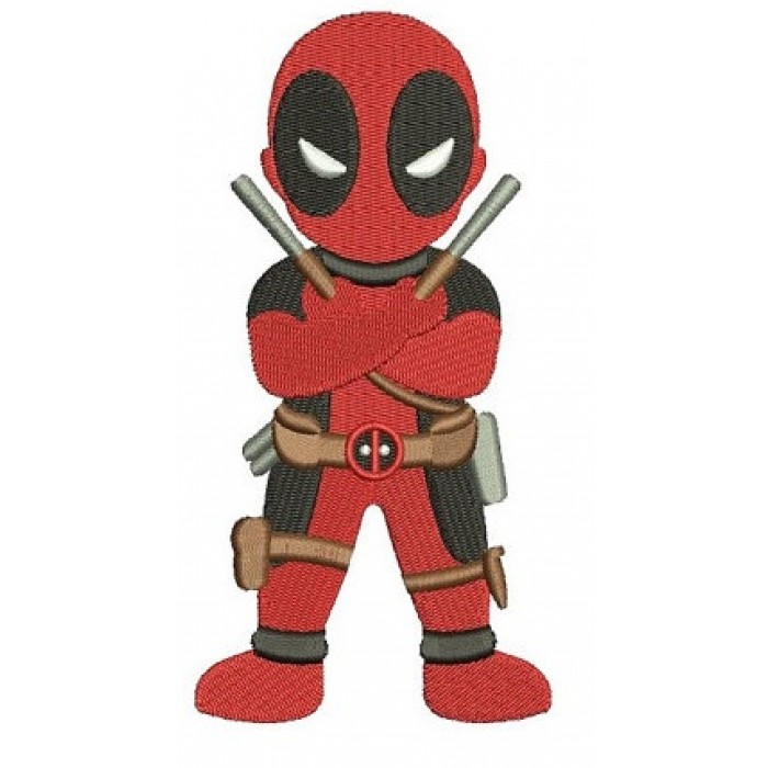 Looks Like Deadpool Filled Machine Embroidery Digitized Design Pattern - Instant Download - 4x4 , 5x7, and 6x10 -hoops