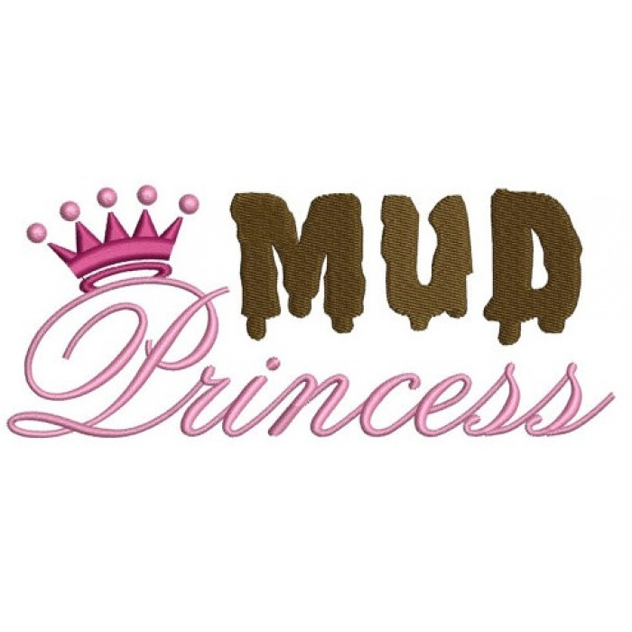 Mud Princess Machine Embroidery Digitized Design Filled Pattern - Instant Download - 4x4 , 5x7, 6x10