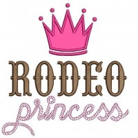 Rodeo Princess Applique Machine Embroidery Digitized Design Pattern - Instant Download - 4x4 , 5x7, 6x10