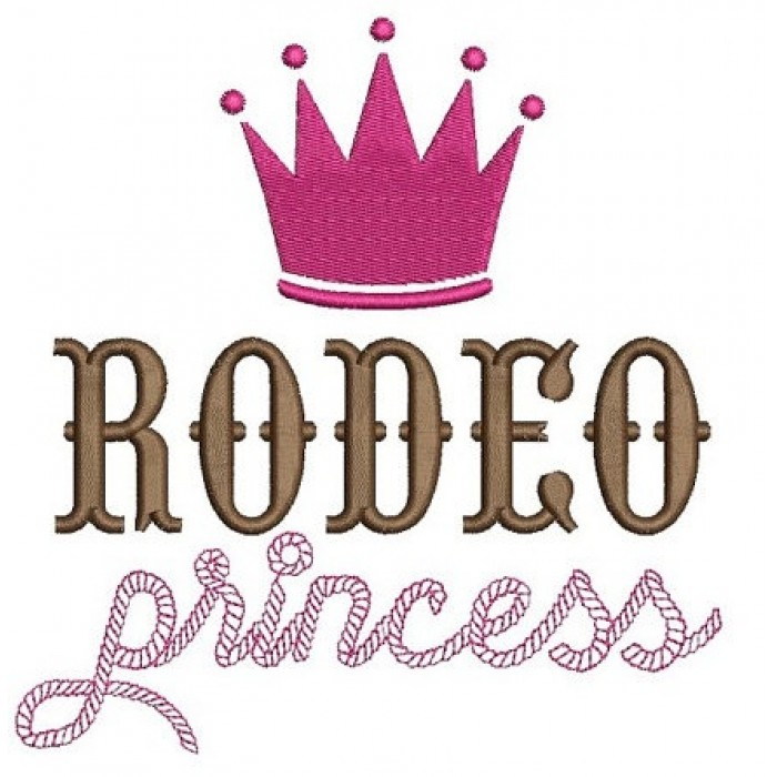 Rodeo Princess Machine Embroidery Digitized Design Filled Pattern - Instant Download - 4x4 , 5x7, 6x10