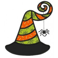 Witch Hat Halloween Applique Machine Embroidery Digitized Design Pattern - Instant Download - 4x4 , 5x7, and 6x10