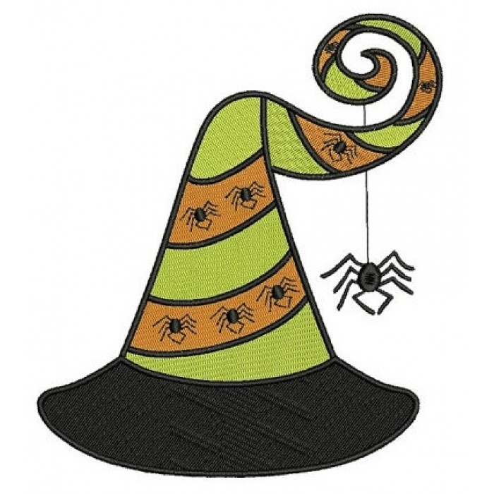Witch Hat Halloween Filled Machine Embroidery Digitized ...