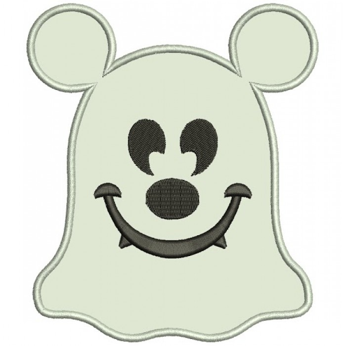 Cute Ghost Halloween Applique Machine Embroidery Digitized Design Pattern - Instant Download - 4x4 , 5x7, 6x10