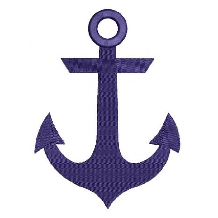 Anchor Machine Embroidery Digitized Pattern - Filled In Design - Instant Download - 4x4 , 5x7, and 6x10 -hoops