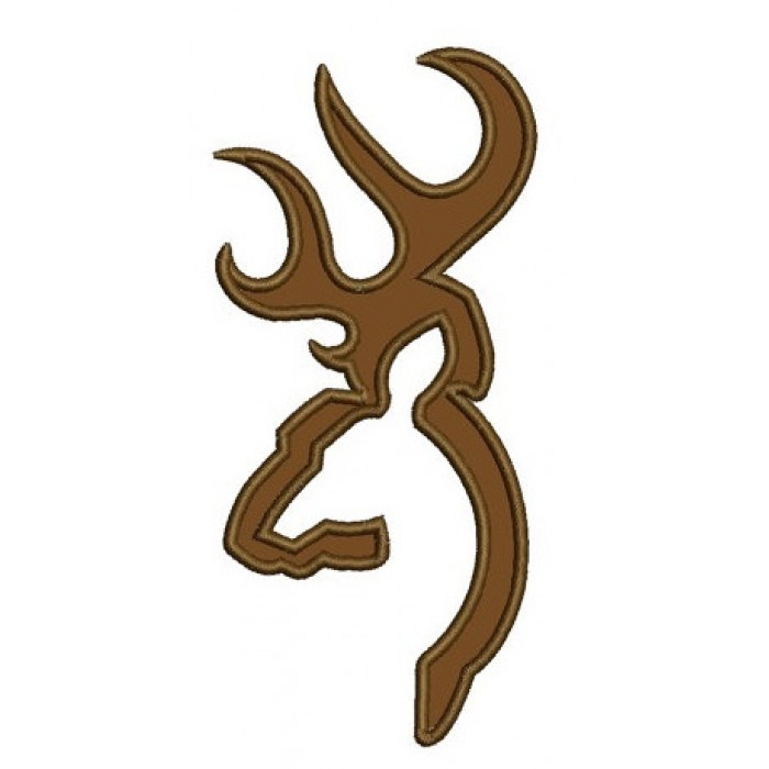 Browning Doe Buck Head Deer Applique Machine Embroidery