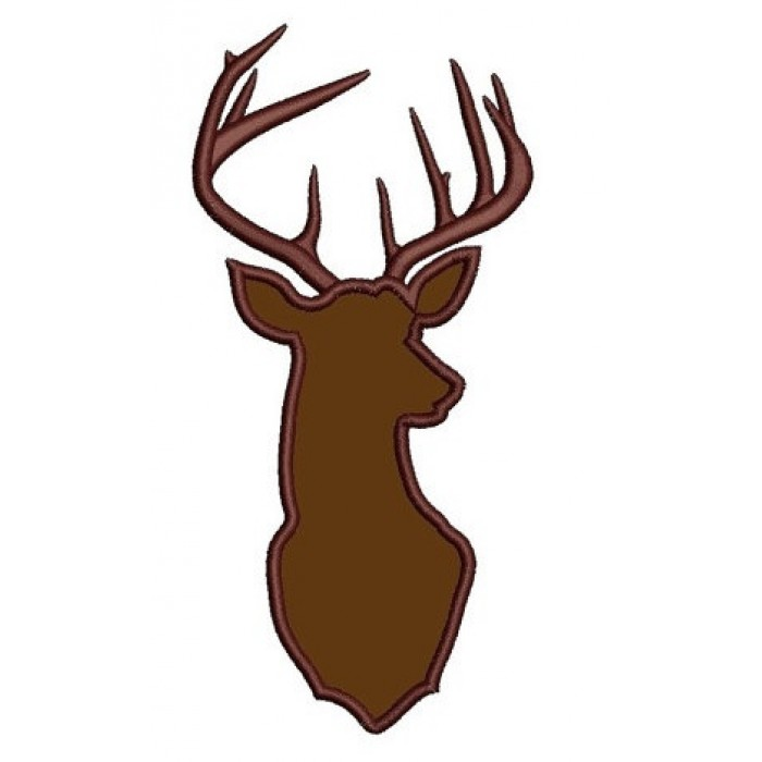 Deer Buck Digitized Hunting Machine Embroidery Applique Design