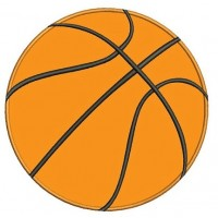 Basketball Applique Machine Embroidery Digitized Design Pattern - Instant Download - 4x4 , 5x7, 6x10