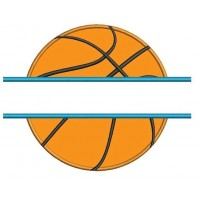 Basketball Split Applique Machine Embroidery Digitized Design Pattern - Instant Download - 4x4 , 5x7, 6x10