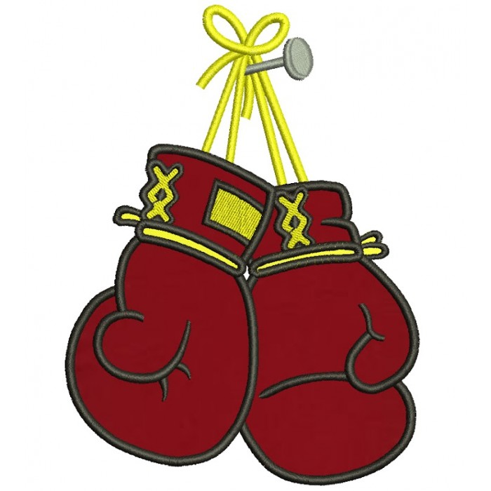 Boxing Gloves Applique Machine Embroidery Digitized Pattern- Instant Download - 4x4 ,5x7,6x10 -hoops