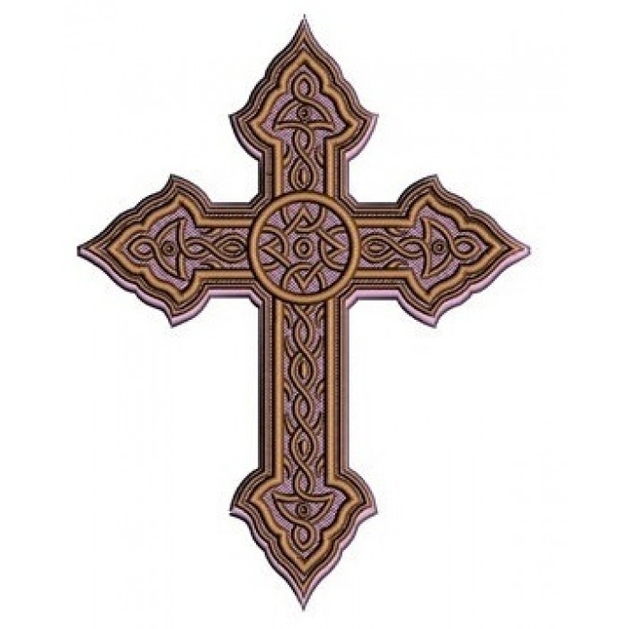 Celtic Metallic Cross Machine Embroidery Digitized Design Filled Pattern - Instant Download - 4x4 , 5x7, 6x10