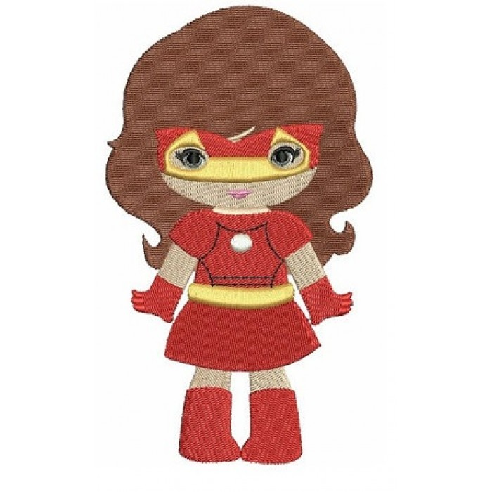 Looks like Iron Girl Super Hero (hands out) - Filled Machine Embroidery Digitized Design - Instant Download - 4x4 , 5x7,6x10