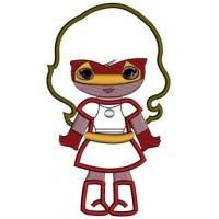 Looks like Iron Girl Superhero Applique (hands out) - Machine Embroidery Digitized Design Pattern -Instant Download - 4x4 , 5x7,6x10 hoops