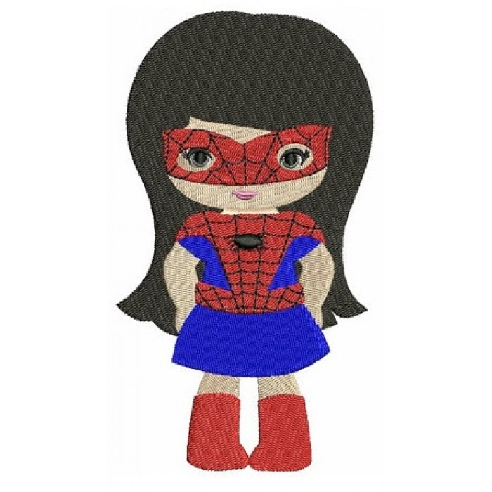 Looks like Spider Girl Superhero (hands in) - Filled Machine Embroidery Digitized Design Pattern -Instant Download - 4x4 , 5x7,6x10 hoops
