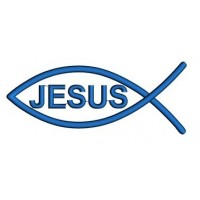 Jesus Fish (Christian Ichthys) Applique Machine Embroidery Digitized Design Pattern - Instant Download - 4x4 , 5x7, and 6x10 -hoops