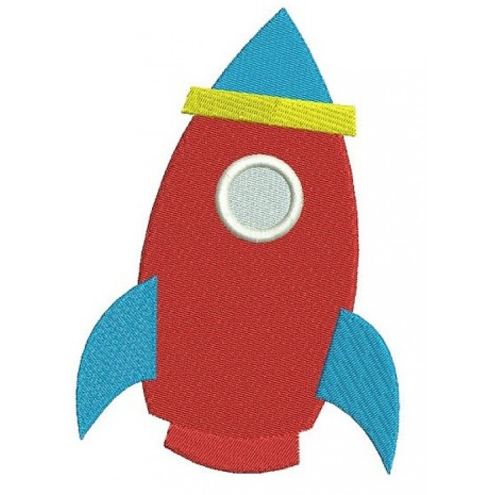 Rocket Shipp Digitized Machine Embroidery Design Space Filled Pattern - Instant Download - 4x4 , 5x7, and 6x10 -hoops