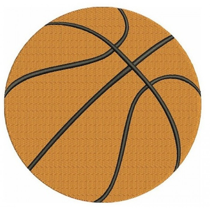 Basketball Machine Embroidery Digitized Filled Design Pattern - Instant Download - 4x4 , 5x7, 6x10