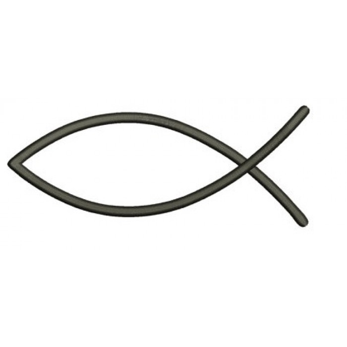 Christian Fish (Ichthys) Applique Machine Embroidery Digitized Design Pattern - Instant Download - 4x4 , 5x7, and 6x10 -hoops