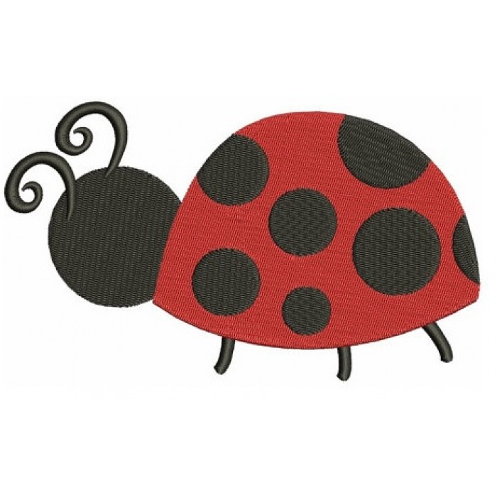Ladybug Machine Embroidery Digitized Design Filled Pattern - Instant Download - 4x4 , 5x7, and 6x10 -hoops