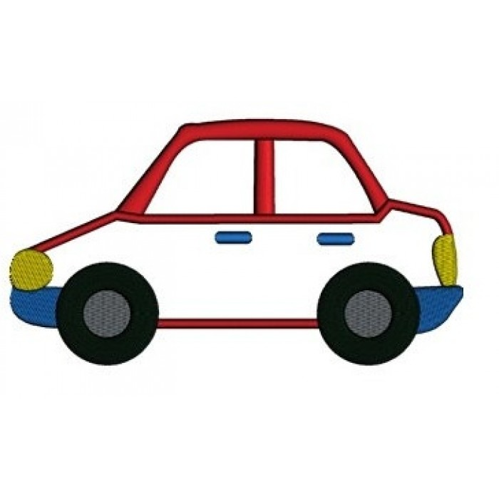 Little Red Car Applique Machine Embroidery Digitized Design Pattern Instant Download Comes In Three Sizes 4x4