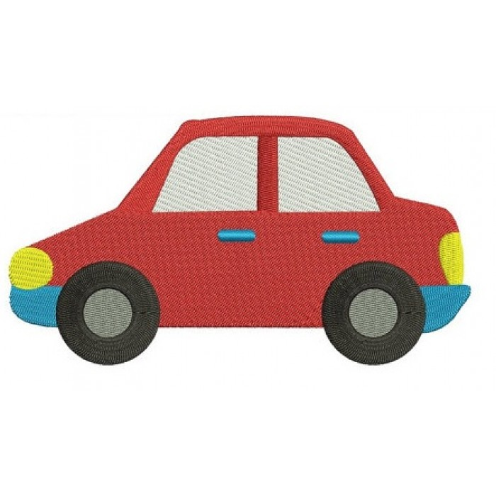 Little Red Car Machine Embroidery Digitized Design Filled Pattern - Instant Download - comes in three sizes 4x4 , 5x7, 6x10 hoops
