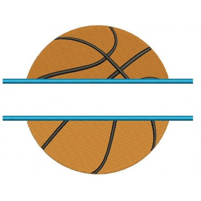 Basketball Split Machine Embroidery Digitized Design Filled Pattern - Instant Download - 4x4 , 5x7, 6x10