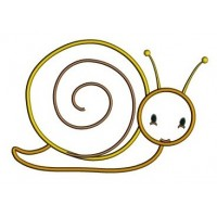Cute Baby Snail Applique Machine Embroidery Digitized Design Pattern - Instant Download - 4x4 , 5x7, and 6x10 -hoops