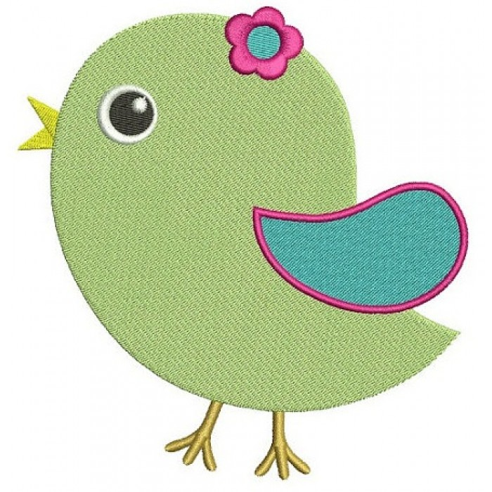 Little Bird Machine Embroidery Digitized Design Filled Pattern - Instant Download - comes in three sizes 4x4 , 5x7, 6x10 hoops