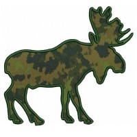 Moose Machine Embroidery Hunting Applique Digitized Design Pattern - Instant Download Digitized Pattern -4x4 , 5x7, and 6x10 hoops