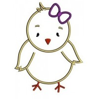 Baby Chick (Peeps Easter) Applique Digitized Machine Embroidery Design Pattern - Instant Download - 4x4 , 5x7, 6x10
