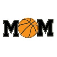 Basketball Mom Applique with Ball Design Machine Embroidery Digitized Design Pattern - Instant Download - 4x4 , 5x7, and 6x10 -hoops