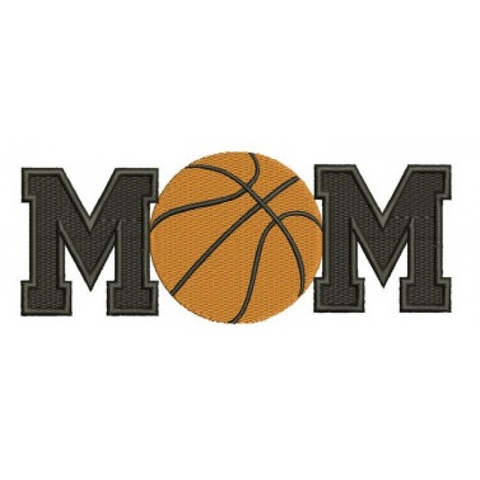 Basketball Mom with Ball Design Machine Embroidery Digitized Design Filled Pattern - Instant Download - 4x4 , 5x7, and 6x10 -hoops