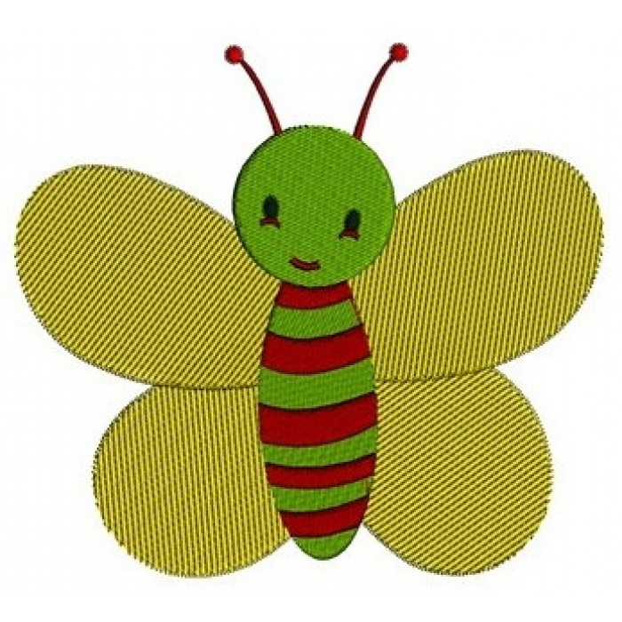 Cute Baby Butterfly Machine Embroidery Digitized Design Filled Pattern - Instant Download - 4x4 , 5x7, and 6x10 -hoops