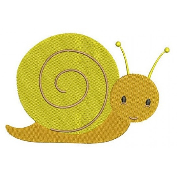 Cute Baby Snail Machine Embroidery Digitized Design Filled Pattern - Instant Download - 4x4 , 5x7, and 6x10 -hoops