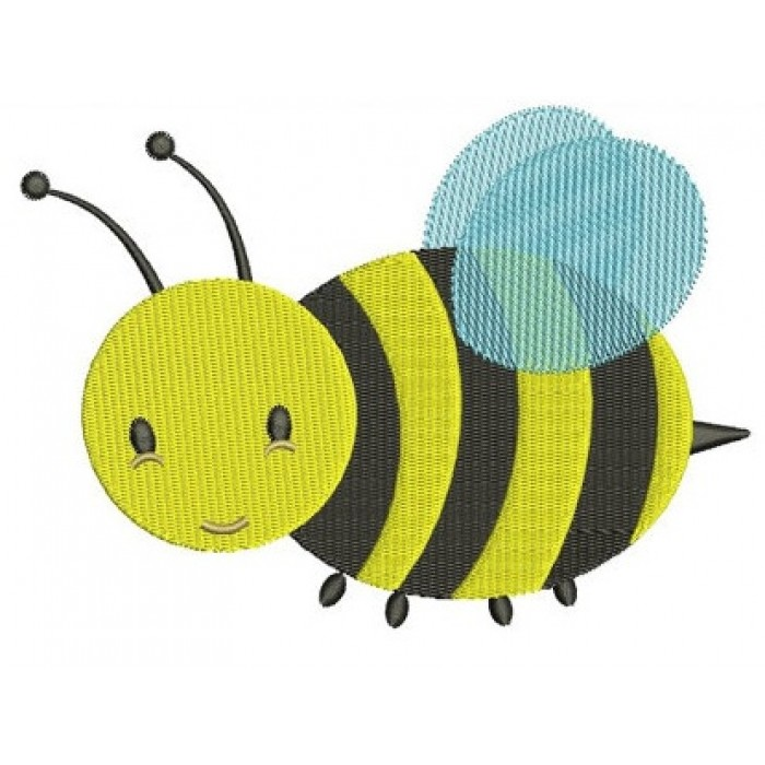Cute Bumble Bee Machine Embroidery Design Filled Pattern - Instant Download - comes in three sizes to fit 4x4 , 5x7, and 6x10 hoops