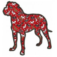 Dog Applique Digitized Machine Embroidery Design Pattern - Instant Download - 4x4 , 5x7, 6x10