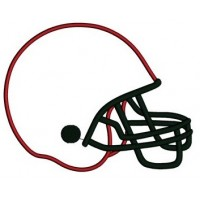 Football Helmet Applique Sport Machine Embroidery Digitized Design Pattern- Instant Download - 4x4 , 5x7, and 6x10 hoops