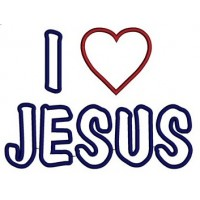 I love Jesus Aplique Machine Embroidery Digitized Design Pattern - Instant Download - 4x4 , 5x7, and 6x10 -hoops